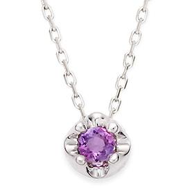 2月の誕生石3mm天然紫水晶ティアラネックレス