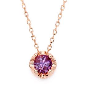 2月の誕生石4mm天然紫水晶ティアラネックレス