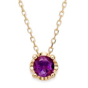 2月の誕生石5mm天然紫水晶ティアラネックレス