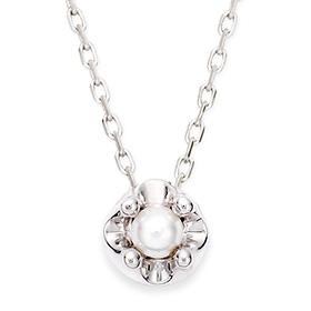 6月の誕生石3mmの天然真珠のティアラネックレス