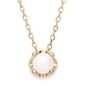 6月の誕生石5mm天然真珠のティアラネックレス