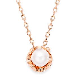 6月の誕生石4mm天然真珠のティアラネックレス