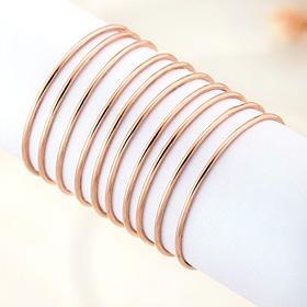 14K十颗フラット戒指[14K / 18Kガーデニア3部耳环【当日出货】