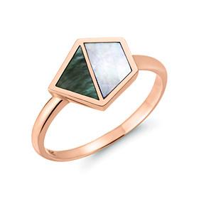 14K / 18K海がプレゼントした天然螺鈿戒指